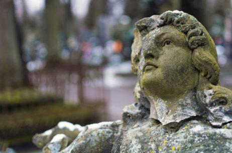 Broken Statue in a Cemetery
