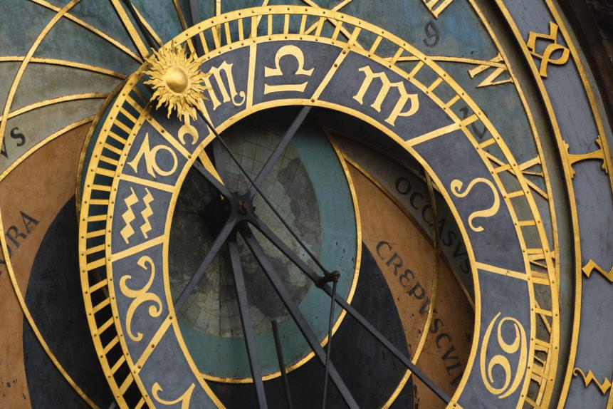 Prague astronomical clock close up