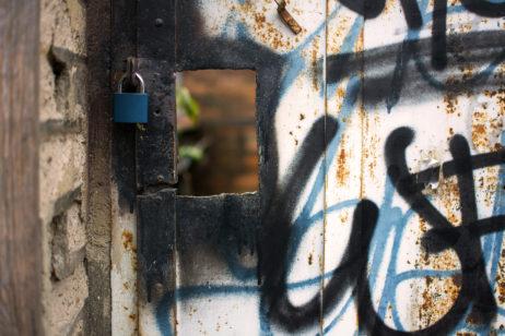 Grunge Iron Door