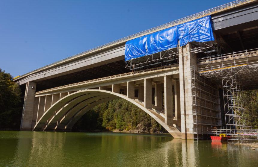 repairing of the highway bridge