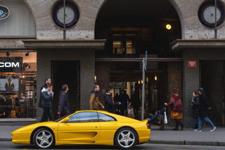 Yellow Ferrari f355 Sports Car