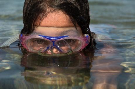 Close Up Swimming
