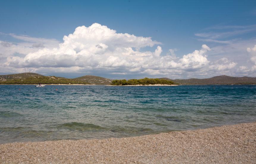 Empty beach in Croatia