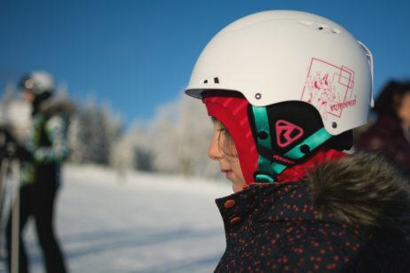 Little Girl in a Ski Helmet