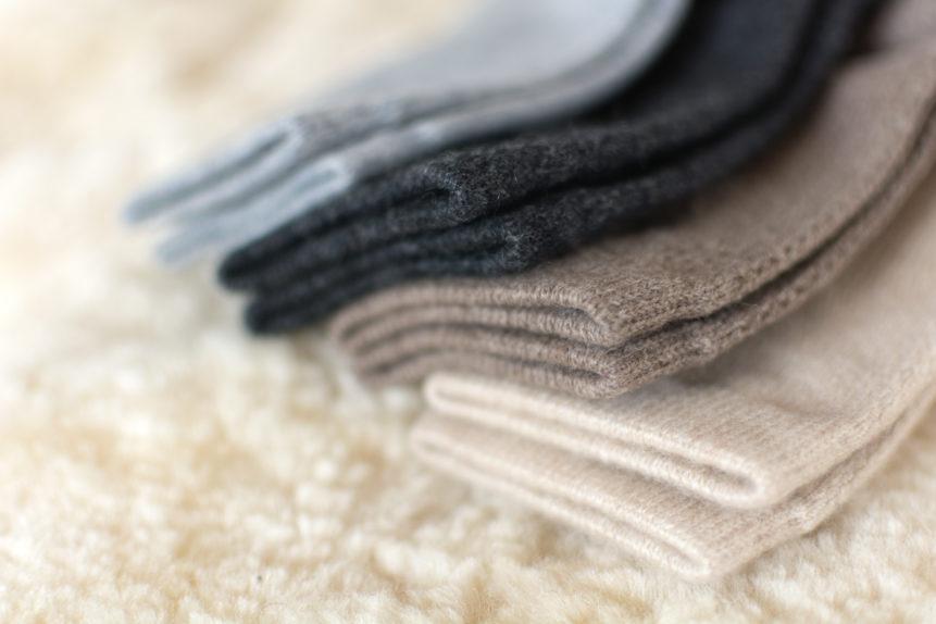 Luxury cashmere socks
