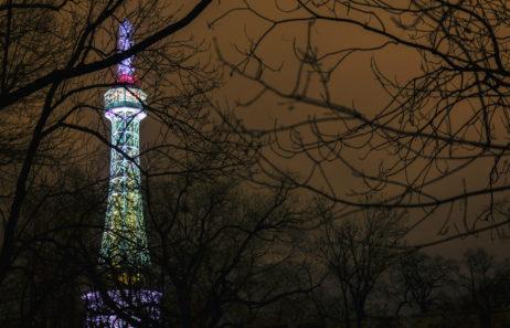 Petřín Lookout Tower at Night