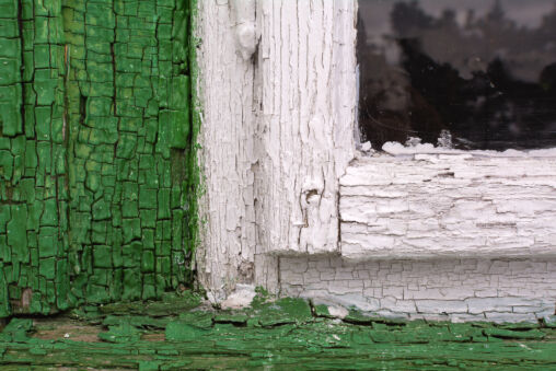 Old Wooden Window Close Up