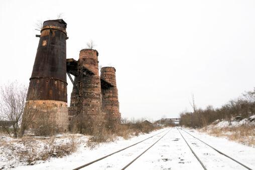 Ruined Chimeys in Poldi Kladno