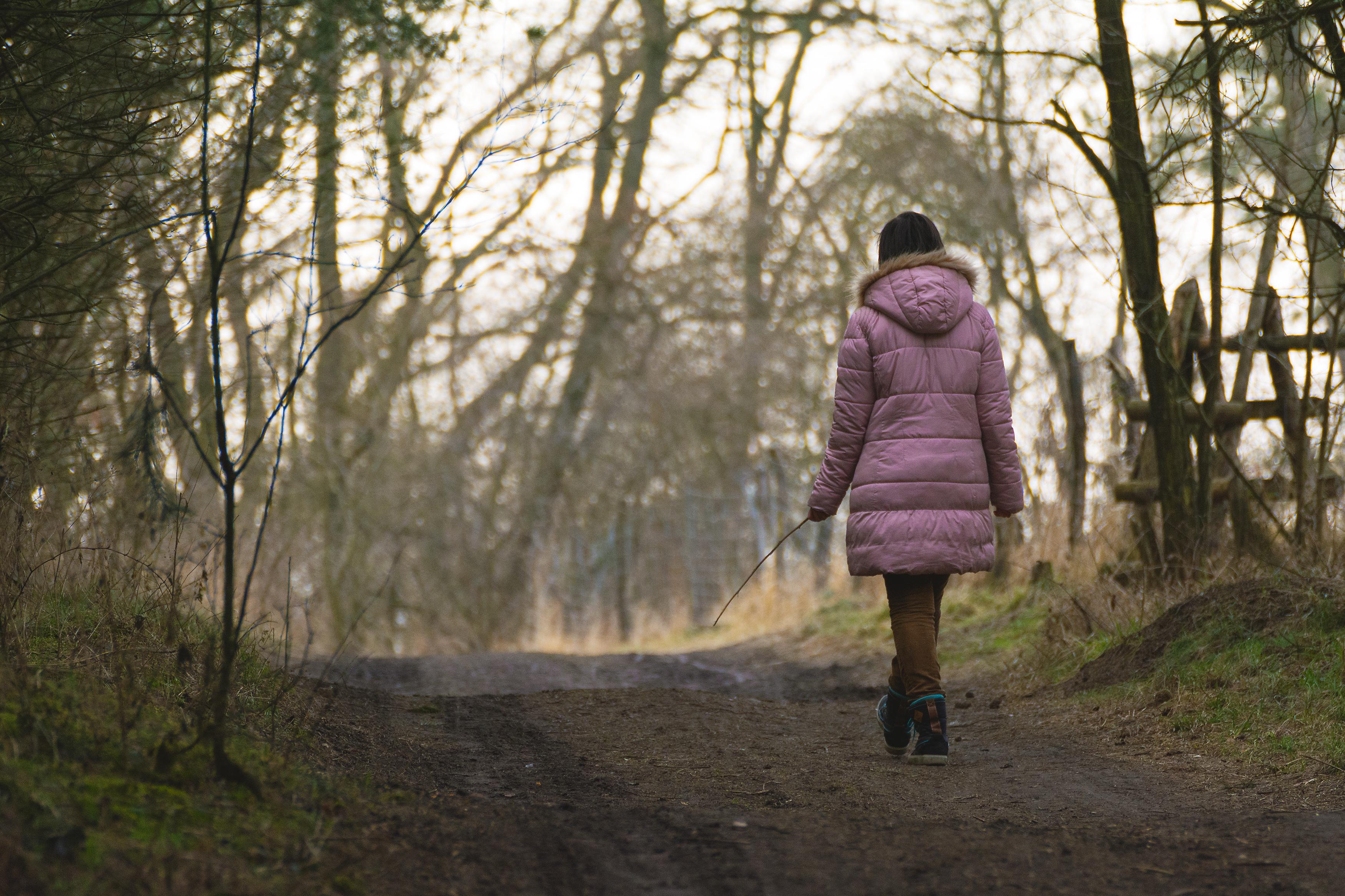Lonely Woman Walking | Free Stock Photo | LibreShot