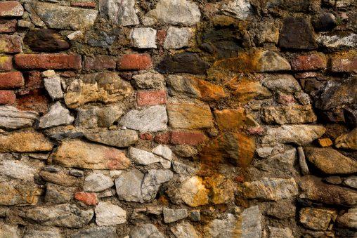 Beautiful Old Stone and Brick Wall Pattern