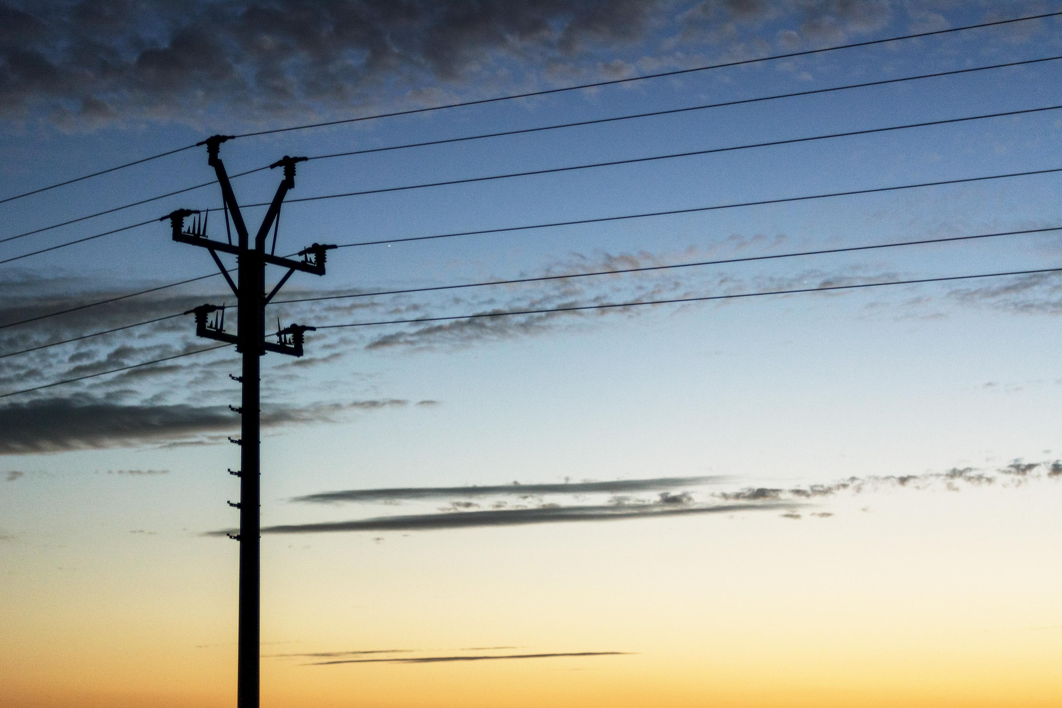 Electric Pole Sunset Landscape | Free Stock Photo | LibreShot