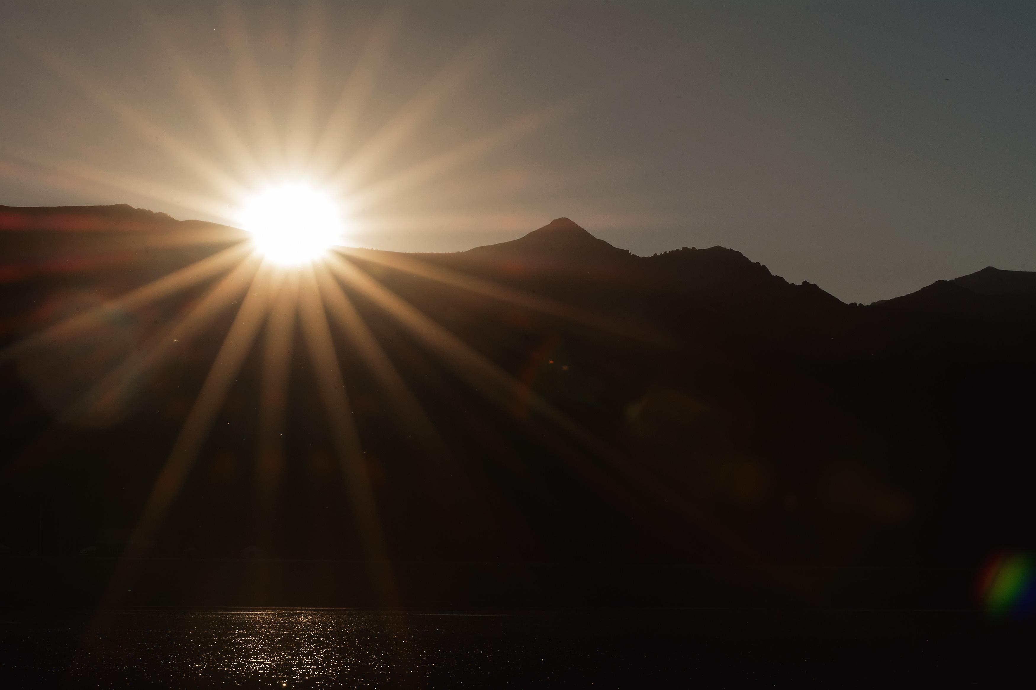 Sunset Sun Rays Over Mountains | Free Stock Photo | LibreShot
