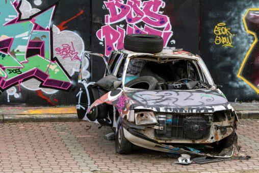 Grunge Graffiti Car