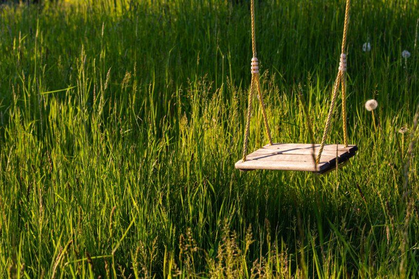 Single Wooden Swing